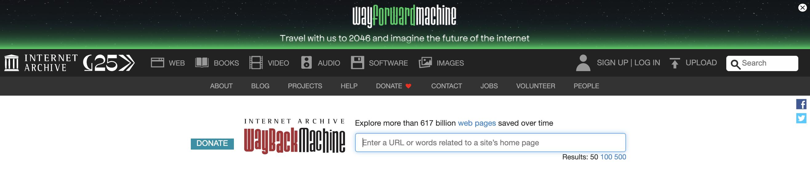 Wayback Machine.