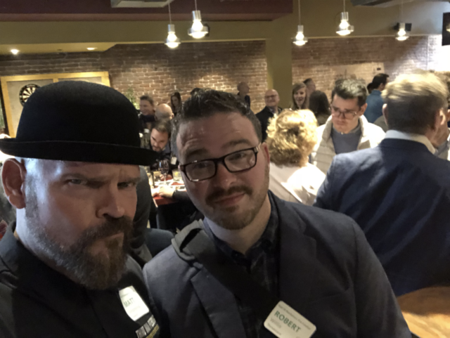 Stephenson and Willis at a marketing event in San Francisco, April 2018.