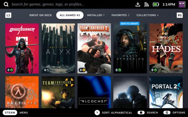 En parcourant votre bibliothèque Steam, vous saurez en un coup d'œil lesquels de vos jeux sont entièrement compatibles avec le Steam Deck.