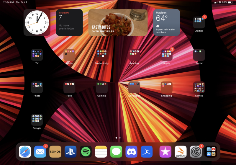 Widgets on iPadOS 15
