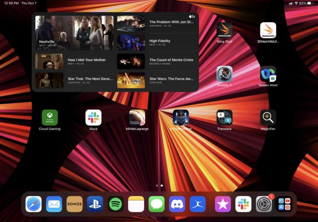Here's one of the TV app's widget sizes.