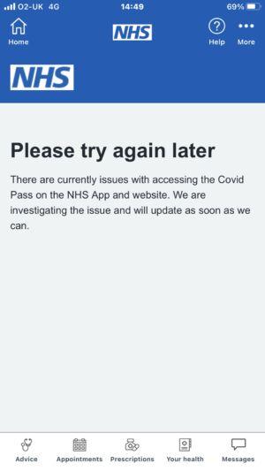 L'app del SSN non funziona per ore.