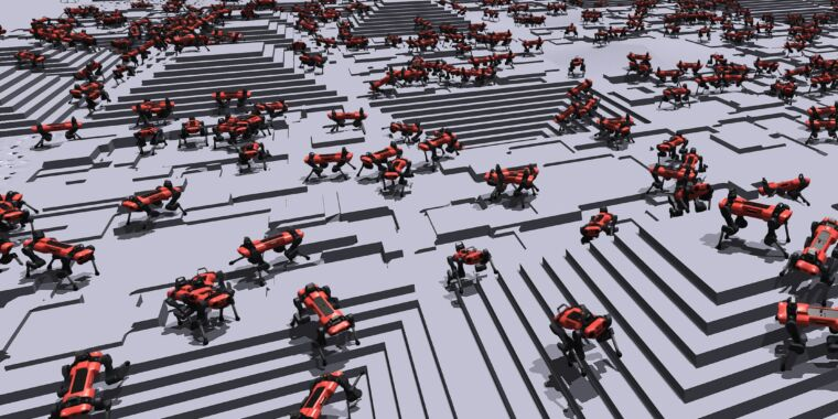 These virtual obstacle courses help real robots learn to walk