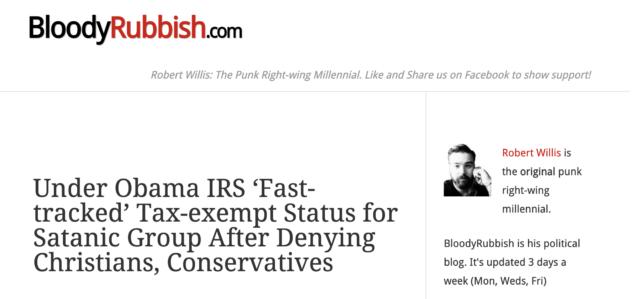 Rob Willis also managed BloodyRubbish.com.
