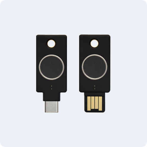 Fits either your USB-C (left) or USB-A (right) port.