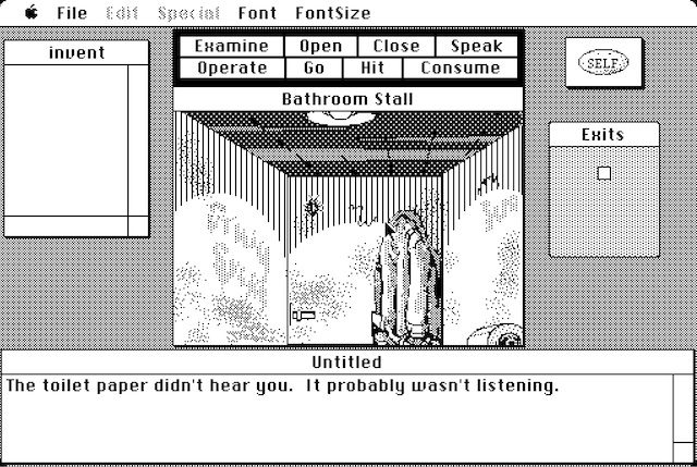 Early Macintosh point-and-click adventure <em>Déjà Vu</em>