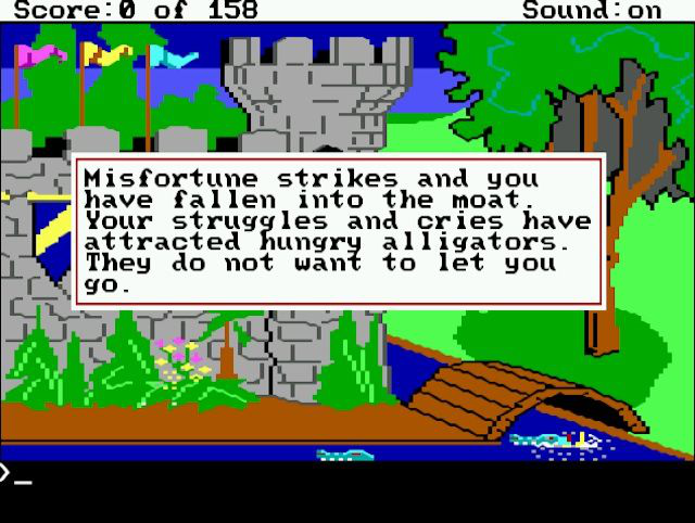 The first <em>King's Quest</em> may have looked sweet and innocent, but even the first screen is fraught with danger