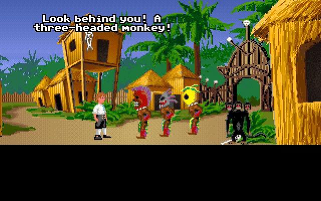 The three-headed monkey was a recurring gag in the <em>Monkey Island</em> games