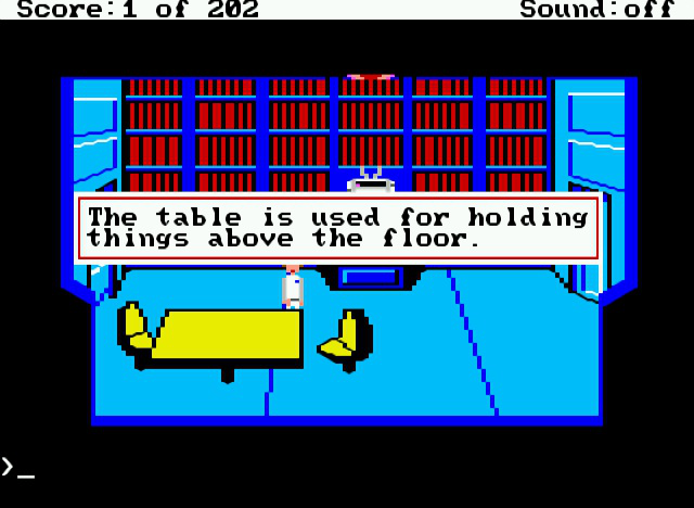 Sierra's beloved first foray into science fiction&#8212;<em>Space Quest</em>&#8212;quietly mocks you for being thorough