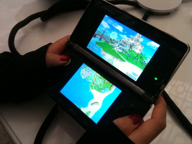 <em>Pilotwings Resort </em>has players flying planes or rocket-belted pilots through rings or completing landings, tasks that are a bit easier with 3D on.
