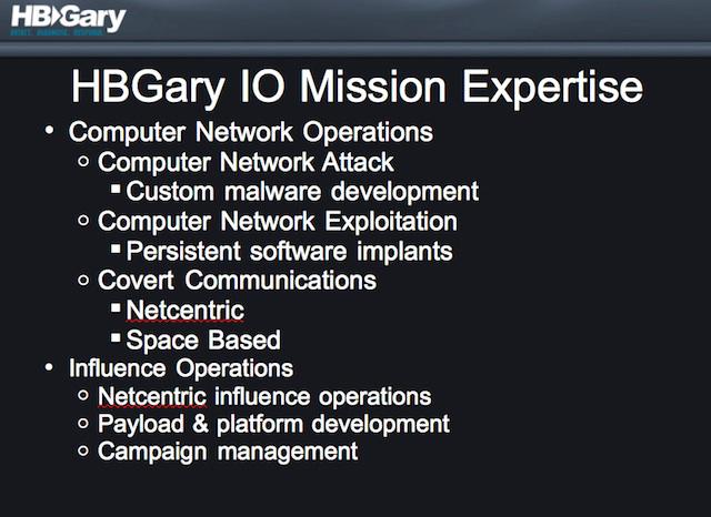 HBGary's expertise
