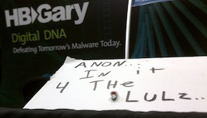 "At RSA: ""Anon: In it 4 the lulz..."""
