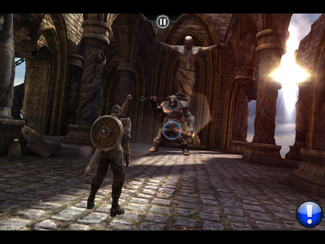 Infinity Blade on the original iPad. Click for a larger version.