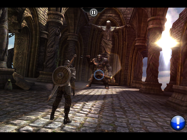 Infinity Blade on the iPad 2. Click for a larger version.