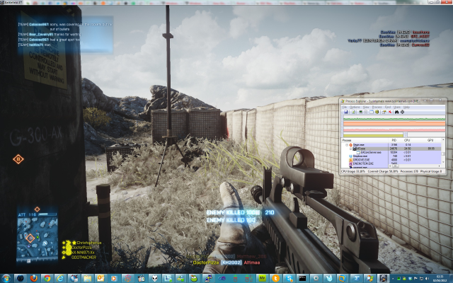 In <em>Battlefield 3</em> a modern multicore hyperthreaded processor will only need two or three cores, even with the GPU working hard.