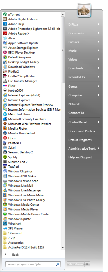 """Windows 7's Start Menu has never been very usable if you delve into """"All Programs"""""""