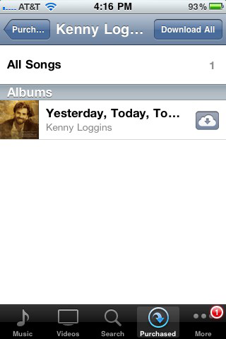 iTunes' cloud interaction on the iPhone.