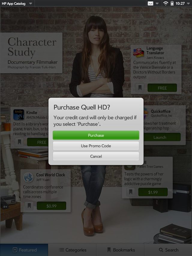 "Purchasing an app from Pivot's ""character study"""