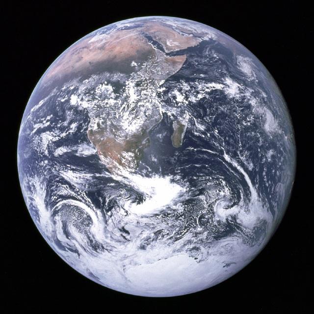 Earth, as seen by Apollo 17.