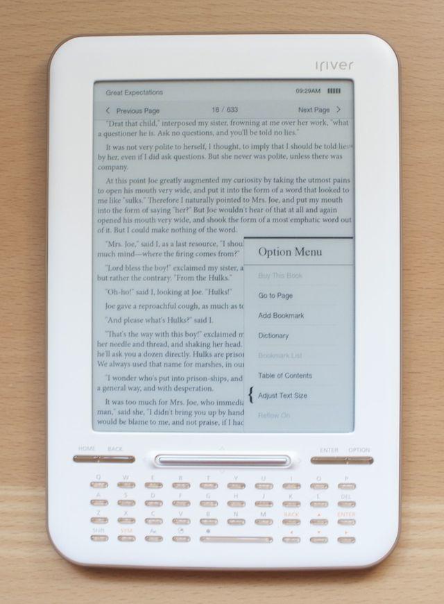 The Story HD Options menu. No annotating, no highlighting.
