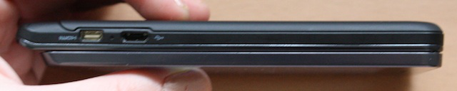 The Droid 3's microUSB and HDMI ports.
