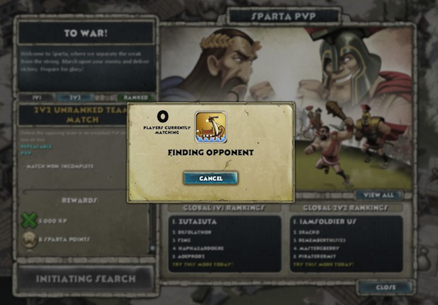 Players can seek PvP competition either in a destination city, like Sparta, or can engage with friends in the arena of their own city, buildable around level 6.