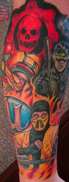 small mortal kombat logo tattoo