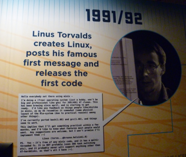 From the Linux Foundation's Linux History Gallery