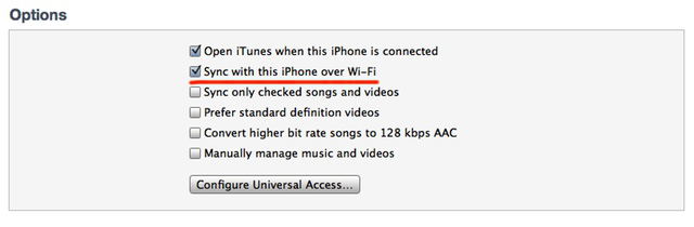 You can find this setting within iTunes on the computer when your iOS device is plugged in.