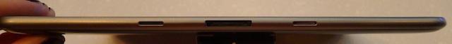 The Galaxy Tab 8.9's ports along the bottom