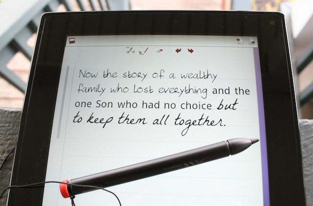 Three fonts are available to rework your handwriting in the Notes Mobile app.