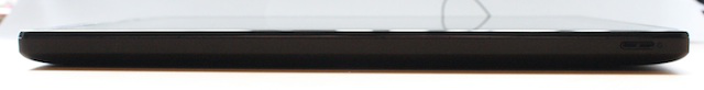 The side with the tablet's sleep button