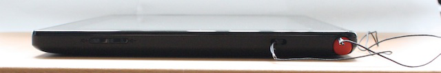 The stylus is stashed in a slot in the top of the ThinkPad tablet