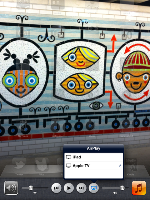 iOS 5 users can now mirror their iPad 2 screens to an AirPlay device.