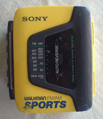 A Sports Walkman of the early 1990s