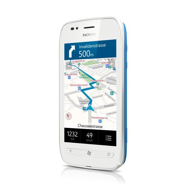 Nokia Maps on a Lumia 710