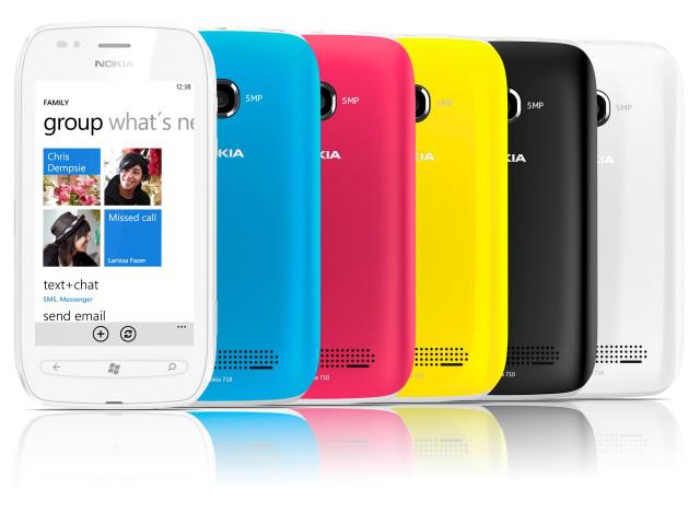 A rainbow of Lumia 710s