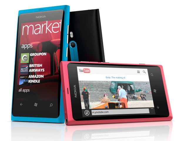 The range of Lumia 800 colors. Pictures can't do justice to the magenta color. It is fantastic.