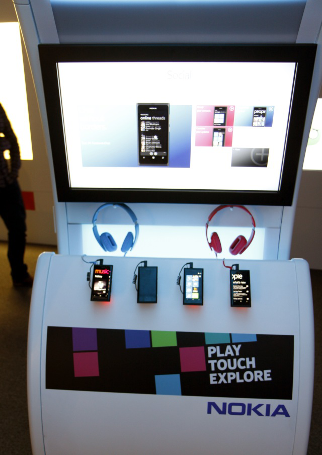 Phones, headphones, and a touchscreen computer thingy to learn all about them