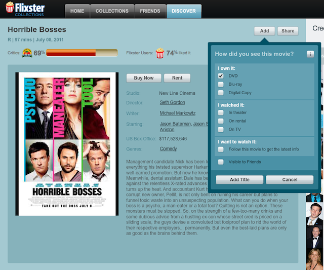 The add-a-movie fakeout in the Flixster Mac app. You can't download the movie without going back to the Flixster/UltraViolet website.