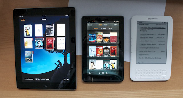 iPad 2, Kindle Fire, last-gen Kindle (now known as Kindle Keyboard)
