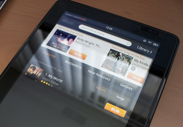 Kindle Fire recommends music with no prior knowledge of my taste, hits a pop fly.
