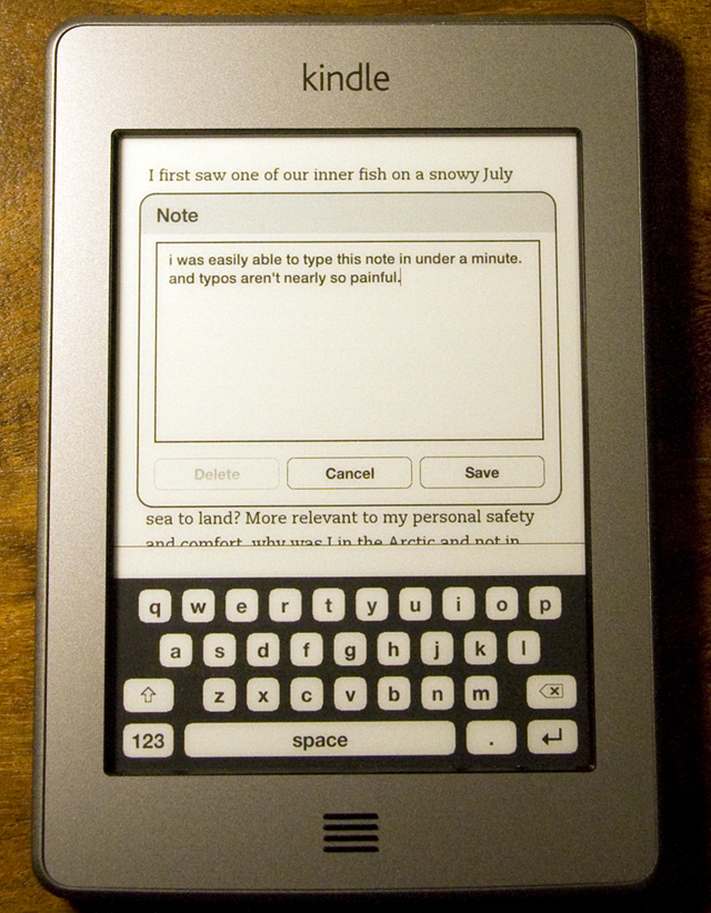 The virtual keyboard makes for Amazon's best typing experience yet.