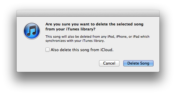 Deleting music is scary, so make sure you <em>don't</em> check the box that will delete it from iCloud!