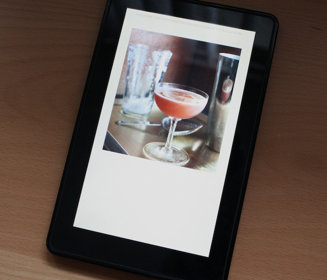 An image displayed in a book in the Kindle Fire. Text couldn't flow to empty space, but it looks nice.