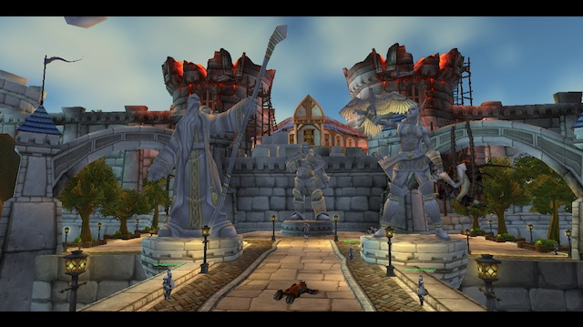 """Stormwind's burned towers feature in the starting human cutscene that describes the Northrend pursuits as """"costly."""""""