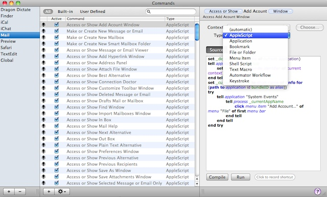 Creating macros and commands