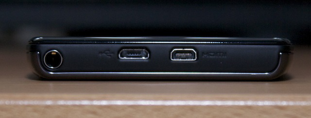 The Droid Razr's ports