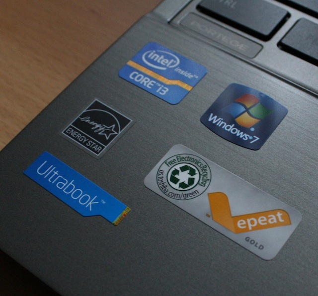 Toshiba was generous enough to cut you in on their sticker collection.