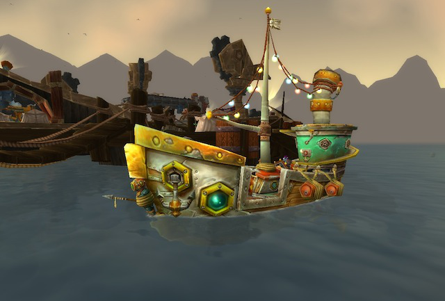 When you begin questing in the middle of a lake, questgivers see fit to equip you with a river boat.